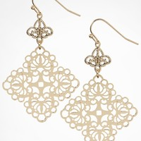 FILIGREE QUATREFOIL DROP EARRINGS
