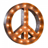 Peace Vintage Marquee Light