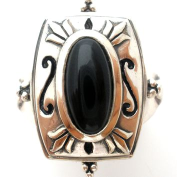 Sterling Silver Black Onyx Ring Size 7