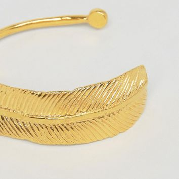 Ottoman Hands Feather Cuff at asos.com