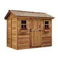 Outdoor Living Today, Cabana 6 ft. x 9 ft. Western Red Cedar Garden Shed, CB96 at The Home Depot - Mobile