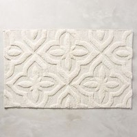 Shimmered Squares Bathmat by Anthropologie in Neutral Size: One Size Bath