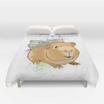 Guinea Pigs Duvet Cover by Adamzworld