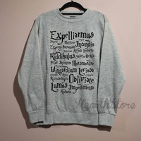 Harry Potter Spell Shirt Harry Potter Shirt Sweatshirt Sweater Unisex - size S M L XL