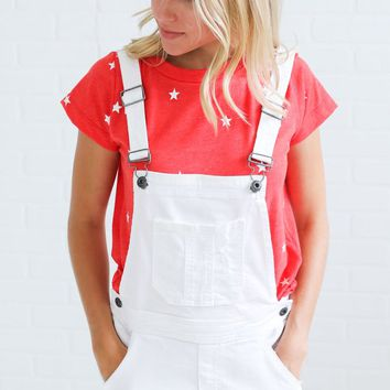 whitewashed denim overalls - ShopRiffraff.com