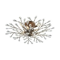18242/8 Crislett 8 Light Semi Flush In Sunglow Bronze With Clear Crystal