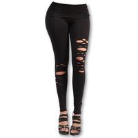 True Vibes High Waisted Leggings With Cut Outs
