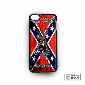 Confederate rebel Flag Image for iPod 6 apple cases