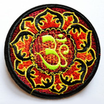 Fire Yoga Iron On Patch