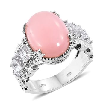 Peruvian Pink Opal Sterling Silver Ring