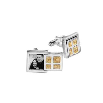 Keepsake Collection Sterling Silver Gold Cufflinks