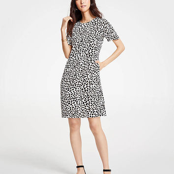 Cheetah Dot Pocket T-Shirt Dress | Ann Taylor