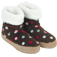 Polar Feet® Women's Snugs™ Smarties White Berber