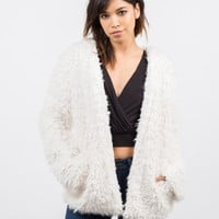 Open Faux Fur Jacket