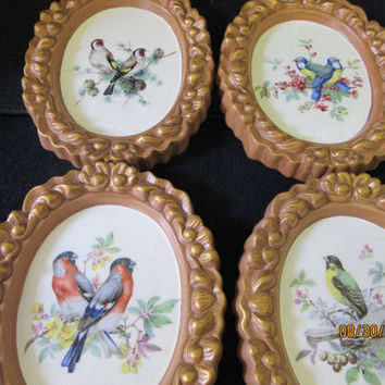 Bird Plaques Ceramic, Porcelain, Pottery Wall hanging, Home Decor, Handmade