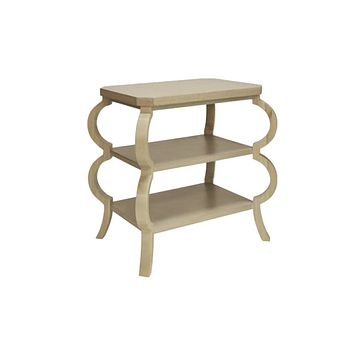 Worlds Away Olive Curvy Side Table