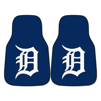 Detroit Tigers MLB Car Floor Mats (2 Front)