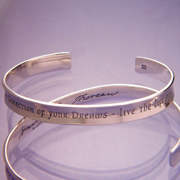 Live The Life You've Imagined Sterling Silver