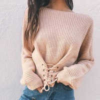 Corset Knit Sweater