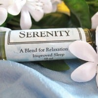 Sleep Meditation Relaxation Organic oil blend Serenity 10ml bottle | GraciousElements - Bath & Beauty on ArtFire
