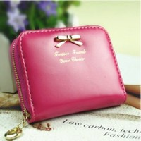 Leshery Lady Women Fashion Cute Purse Clutch Wallet Short Small Bag Pu Card Holder (light pink(short))