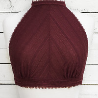 Subtle Temptations Bralette - Wine