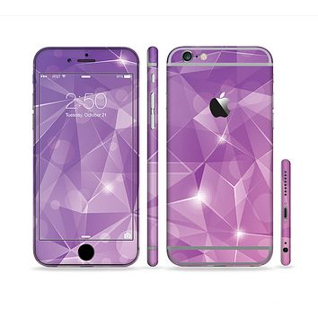 The Vector Shiny Pink Crystal Pattern Sectioned Skin Series for the Apple iPhone 6
