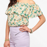 Urban Outfitters - Lucca Couture Off-The-Shoulder Ruffle Blouse