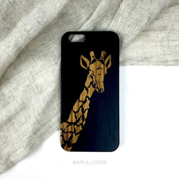 Wood Giraffe iPhone Case - Animal Themed Wood Cell Phone Case for iPhone 6s, 5s, 6 Plus, 4s, Galaxy and More!