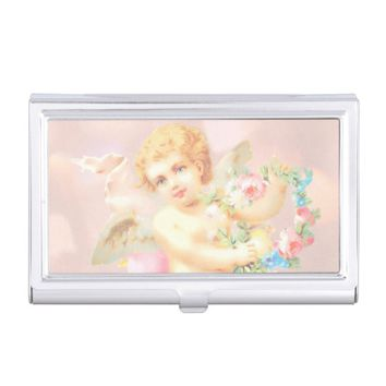 Claire Blossom Pink angel Business Card Holder
