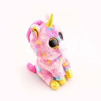 Ty Beanie Boos Big Eyes 10 - 15cm Pink Unicorn Stuffed & Plush Animals Toys Dolls