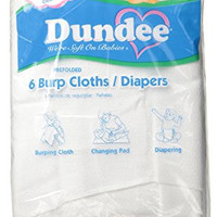 Dundee Burp Cloths/Diapers, White