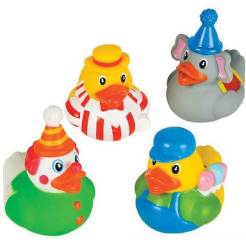 "2"" Assorted Circus Theme Rubber Ducks"