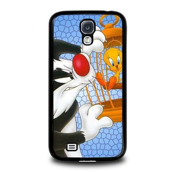 sylvester and tweety looney tunes samsung galaxy s4 case cover  number 1