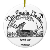 The Empty Nester Ceramic Ornament