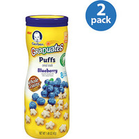 Walmart: Gerber Graduates Puffs Blueberry Cereal Snacks, 1.48 oz, (Pack of 2)