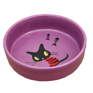Pet Ceramic Water Bowls/Raised Bowls/Cat Food Bowl(Purple)