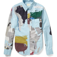 Band of Outsiders Map-Print Cotton Shirt | MR PORTER