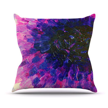 "Ebi Emporium ""Limitless"" Pink Purple Throw Pillow"