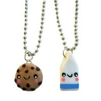 Cookies and Milk Best Friends Necklace - Set of 2 Included!