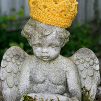Gold crown Baby golden yellow crochet Newborn Photo Prop Custom all colors available custom boy or girl