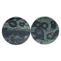 "1 7/8"" (47mm) Green Eye Jasper Stone #7377"