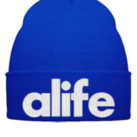 alife embroidery - Beanie Cuffed Knit Cap