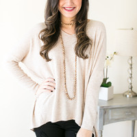 Gentle and Sweet V-Neck Soft Sweater