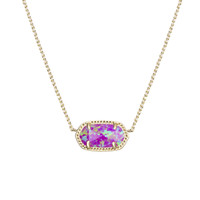 Elisa Pendant Necklace in Fuchsia Kyocera Opal - Kendra Scott Jewelry