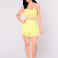 Divinity Romper - Yellow