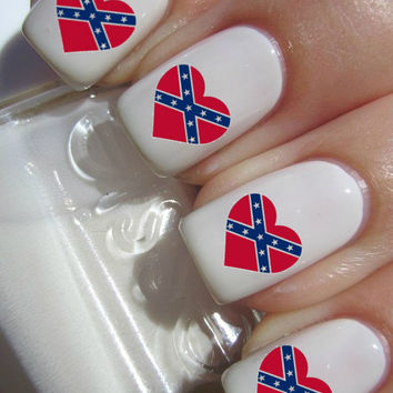Rebel Heart Nail Decals by PineGalaxy on Etsy