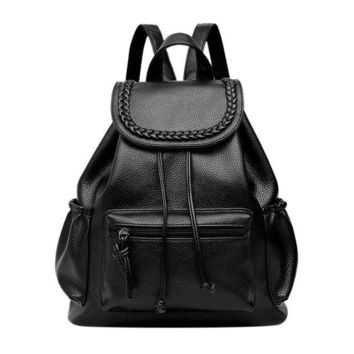 University College Backpack  wind schoolbag mochila de viage washed leather  woman korean tidal leisure travel bag women s rucksackAT_63_4