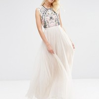 Needle & Thread | Needle & Thread Embroidery Lace Maxi Dress at ASOS