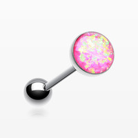 Opal Sparkle Barbell Tongue Ring